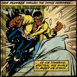 Marvel Comics Retro: Luke Cage, Hero for Hire Comic Panel (aged) Plakater