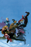 Uncanny X-Force No.5 Cover: Fantomex, Ms. Marvel, Steve Rogers, Hawkeye, Thing, and Spider-Man Photo by Esad Ribic