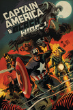 Captain America and Black Widow 640 Cover: Captain America, Black Widow, Ghost Rider, Black Knight Posters by Francesco Francavilla