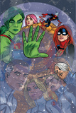 Ff 2 Cover: She-Hulk, Ms. Thing, Ant-Man, Medusa, Mr. Fantastic, Invisible Woman, Human Torch Pósters por Michael Allred