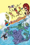 Ff 9 Cover: Medusa, Ant-Man, She-Hulk, Deering, Darla, Power, Alex, Ahura, Luna, Leech, Maddicks Poster by Michael Allred