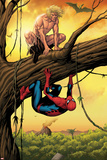 Marvel Adventures Spider-Man No.13 Cover: Ka-Zar and Spider-Man Crouching Out on a Limb Posters by Barry Kitson