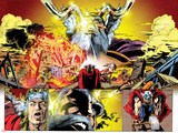 Thor: First Thunder No.5: Panels with Odin Posters by Tan Eng Huat