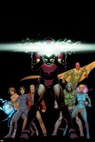 Avengers A.I. 6 Cover: Iron Man, Vision, Alexis, Doombot, Pym, Hang, Chang, Monica, Mancha, Victor Posters by David Marquez