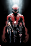 Ultimate Fallout No.1 Cover: Spider-Man, Gwen Stacy, May Parker, and Mary Jane Watson Posters av Mark Bagley