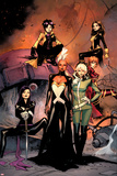 X-Men 1 Cover: Jubilee, Pryde, Kitty, Summers, Rachel, Rogue, Storm, Psylocke Print by Olivier Coipel