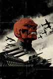 Red Skull No.3 Cover: Redskull Portrait Amidst Tanks and Planes Posters by David Aja