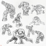 The Avengers: Age of Ultron - Hulk and Hulkbuster Sketches Posters