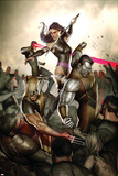X-Men No.231 Cover: Wolverine, Colossus, Psylocke and Cyclops Posters by Adi Granov