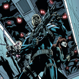 Secret Avengers 12 Cover: Nick Fury, Black Widow, Hawkeye Poster by Butch Guice