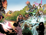 X-Men Legacy No.262: Exodus, Rogue, Wolverine, Hope, Surge, Pixie, Dust, Primal, Velocidad, Zero Print by David Baldeon