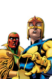 Marvel Adventures Super Heroes No.9 Cover: Nova and Vision Standing Prints by Ronan Cliquet