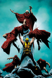 Wolverine No.10 Cover: Wolverine Standing and Lifting Another Print by Jae Lee
