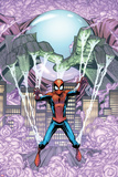 Marvel Adventures Spider-Man No.14 Cover: Mysterio Trapping Spider-Man Prints by Patrick Scherberger