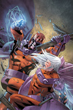 Magneto: Not A Hero No.4 Cover: Magneto Fighting Posters by Clay Mann