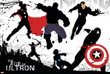 The Avengers: Age of Ultron - Character Silhouettes Design Plakater