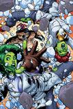 She-Hulks No.4: She-Hulk and Lyra Falling Posters by Ryan Stegman