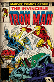 Marvel Comics Retro: The Invincible Iron Man Comic Book Cover No.124, Action in Atlantic City Plakat