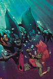 Fear Itself: The Deep No.3 Cover: Tigershark and Lyra Fighting Under Water Prints by Lee Garbett