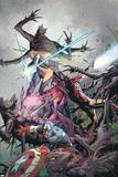 Uncanny X-Men No.9 Cover: Captain America, Magneto, Iron Man, and Magik Prints by Carlos Pacheco