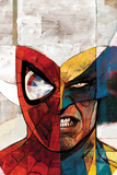 Moon Knight No.5 Cover: Spider-Man and Wolverine Bilder av Alex Maleev