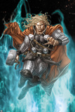Astonishing Thor No.3: Thor Running with Mjonir Affiches par Mike Choi