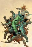 Incredible Hulk No.6 Cover: Hulk Fighting Posters by Leinil Francis Yu