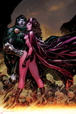 Avengers: The Childrens Crusade No.7 Cover: Scarlet Witch and Dr. Doom Standing Together Prints by Jim Cheung