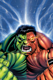 Hulk No.30 Cover: Hulk and Rulk Screaming Posters by Ed McGuinness