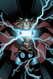 Astonishing Thor No.2 Cover: Thor Holding Mjonir Prints by Ed McGuinness