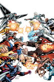 Thunderbolts No.172 Cover: Mr. Hyde, Moonstone, Satana, Fixer, Troll, Centurius, Songbird & Others Posters by Mark Bagley