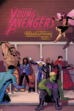 Young Avengers 14 Cover: Prodigy, Rockslide, Miss America, Broo, Gravity, Spider-Girl, Hulkling Photo by Jamie McKelvie