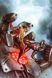 X-Men No.22 Cover: Colossus and War Machine Fighting Posters by Adi Granov