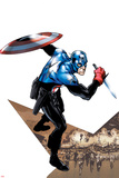 Captain America Corps No.1 Cover: Captain America with Shield and Dagger Poster by Phil Jimenez