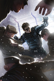 Captain America No.618 Cover: Winter Soldier Fighting Prints by Marko Djurdjevic