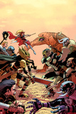New Mutants No.32 Cover: Moonstar Fighting Prints by Jason Pearson