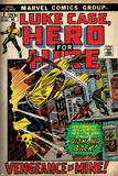 Marvel Comics Retro: Luke Cage, Hero for Hire Comic Book Cover No.2, Smashing Wall (aged) Posters
