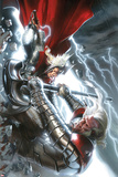 The Mighty Thor No.12 Cover: Thor and Tanarus Fighting Posters by Gabriele DellOtto
