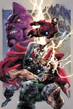 Iron Man/Thor No.2 Cover: Thor and Iron Man Smashing Posters by Stephen Segovia