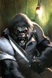 Gorilla-Man No.3 Cover: Gorilla-Man Posing Affiches par Gabriele DellOtto