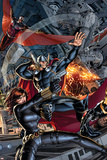 Avengers 2 Cover: Black Widow, Falcon, Thor, Sunspot Print by Dustin Weaver
