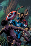 Marvel Adventures Super Heroes No.15 Cover: Captain America Fighting with his Shield Posters by Barry Kitson