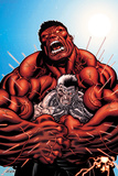 Avengers: X-Sanction No.3 Cover: Cable and Red Hulk Fighting Posters by Ed McGuinness