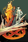 Ultimate Fallout No.3 Cover: Kitty Pryde, Human Torch, and Iceman Poster by Andy Kubert