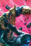 The Thanos Imperative No.4 Cover: Drax and Thanos Fighting Prints by Aleksi Briclot