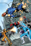 Fear Itself: The Home Front No.1: Speedball Falling Prints by Mike Mayhew