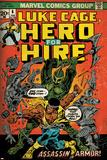 Marvel Comics Retro: Luke Cage, Hero for Hire Comic Book Cover No.6, Assassin in Armor! (aged) Plakát