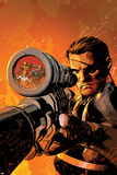 New Avengers No.9 Cover: Nick Fury Standing with a Gun Prints by Mike Deodato