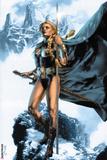 Valkyrie No.1 Cover: Valkyrie Posing Poster by Jay Anacleto