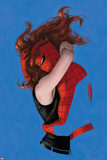 Amazing Spider-Man No.641 Cover: Spider-Man and Mary Jane Watson Hugging Reprodukcje autor Paolo Rivera